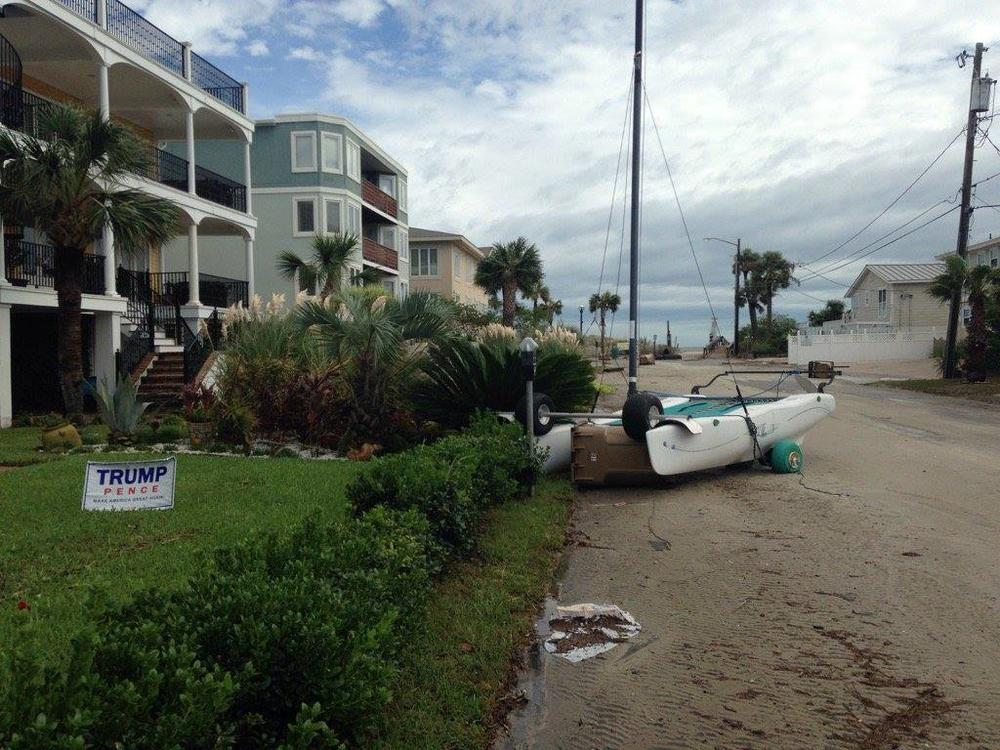 The cleanup cost of Hurricane Matthew on Tybee Island is about $3 million.