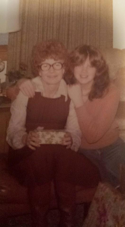 Melinda Dawson with the mother who raised her, Judy Johnson.