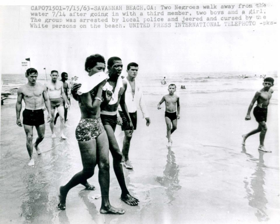 Black youths including future Savannah Mayor Edna Jackson were arrested attempting to desegregate the whites-only beach at Tybee Island in 1963.