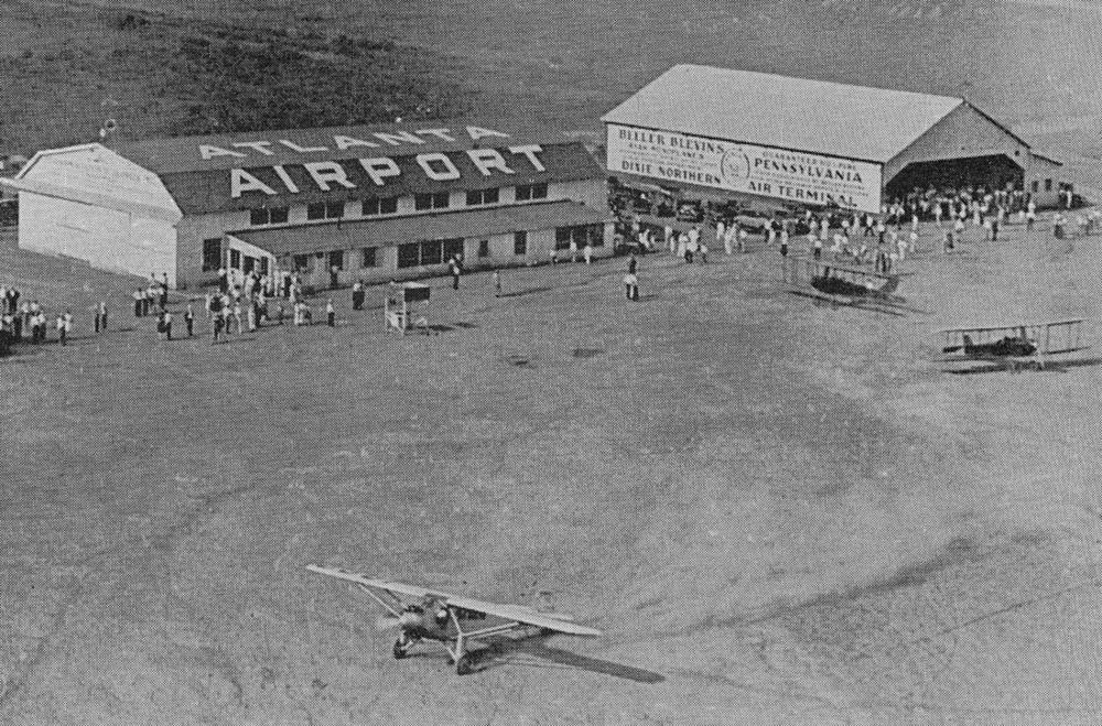 Charles Linbergh visited Atlanta's airport in the Spirit of St. Louis in 1927.