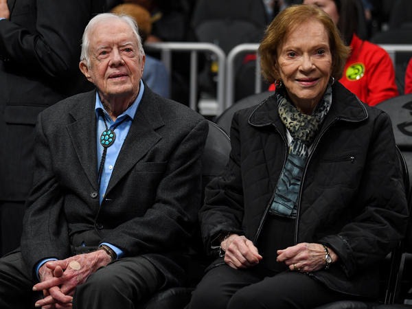 Former first lady Rosalynn Carter says her husband is doing