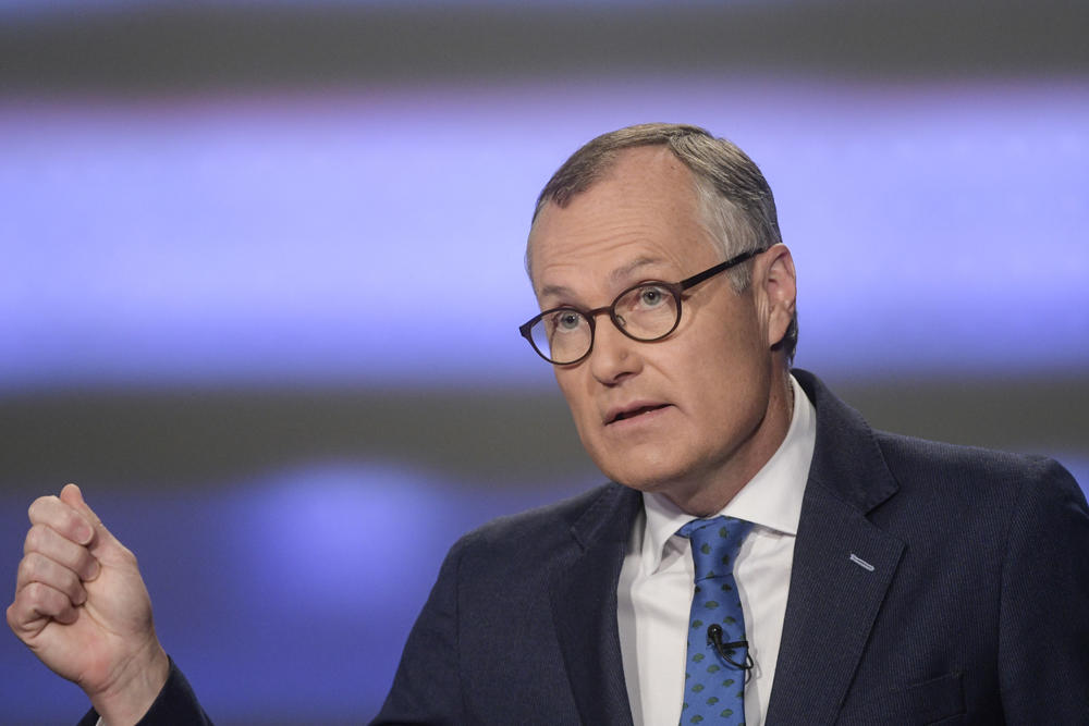 Georgia gubernatorial candidate Casey Cagle participates in a republican primary debate Sunday, May 20, 2018, in Atlanta.