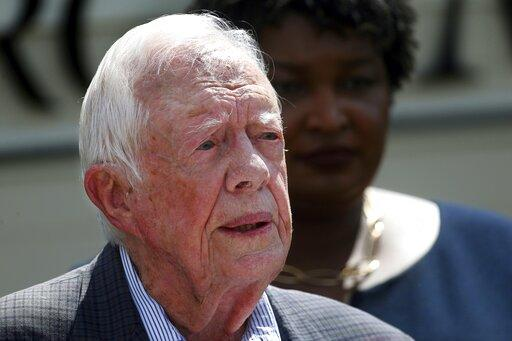 Former President Jimmy Carter is recovering after surgery to repair a broken hip.