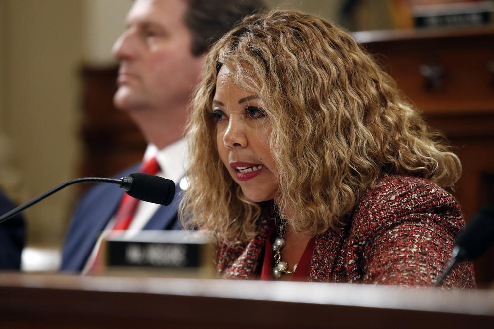 Rep. Lucy McBath, D-Ga., speaks as the House Judiciary Committee hears investigative findings in the impeachment inquiry of President Donald Trump, Monday, Dec. 9, 2019, on Capitol Hill in Washington.