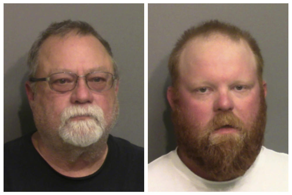 Gregory McMichael (left) and Travis McMichael have been arrested on murder and aggravated assault charges for the death of Ahmaud Arbery.