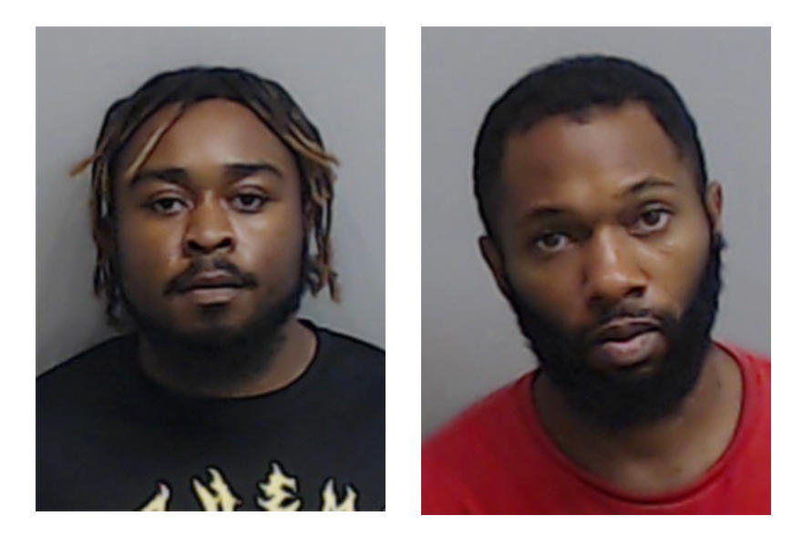 Photos provided by the Fulton County Sheriff's Office show Chisom Kingston, 23, left, and John Wade, 33, who were arrested Thursday, July 2, 2020, on suspicion of arson in the burning of an Atlanta Wendy's restaurant where a police officer fatally shot Rayshard Brooks.