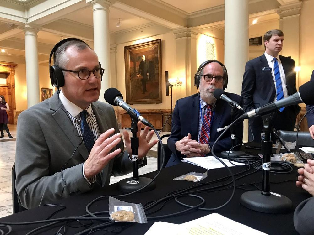 Georgia Lt. Gov. Casey Cagle, GOP candidate for governor, appears on Political Rewind on January 11, 2018, at the Georgia State Capitol.