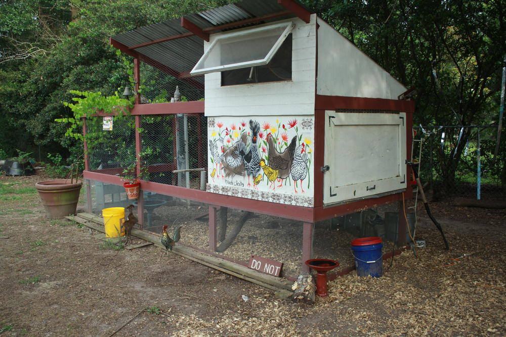 D.S. Resch built this home for the family's chickens in the backyard.