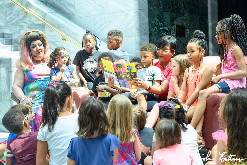 Mayor Keisha Lance Bottoms hosted a Drag Queen Story Hour with Miss Terra Cotta Sugarbaker during Pride Month.