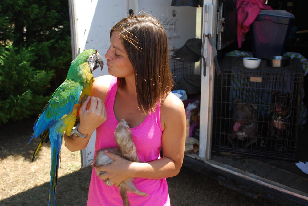 Kayla Simmons fled Fort Stewart with more than a dozen animals.