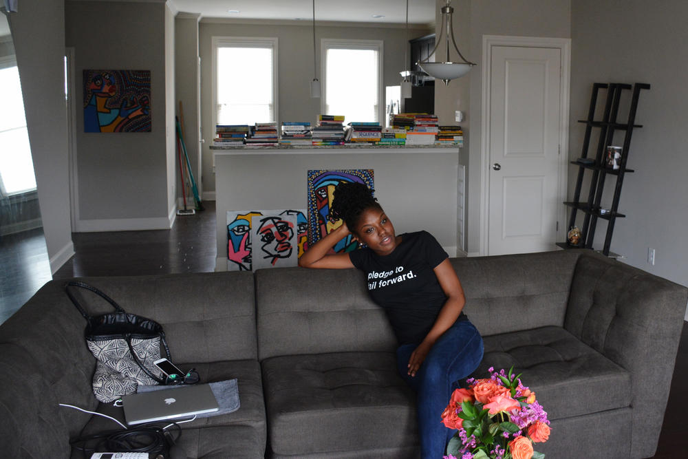Brittney Hart's happy to take her time getting settled in her new home.