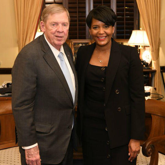 Sen. Johnny Isakson invited Atlanta Mayor Keisha Lance Bottoms as his guest to President Donald Trump's 2019 State of the Union address.