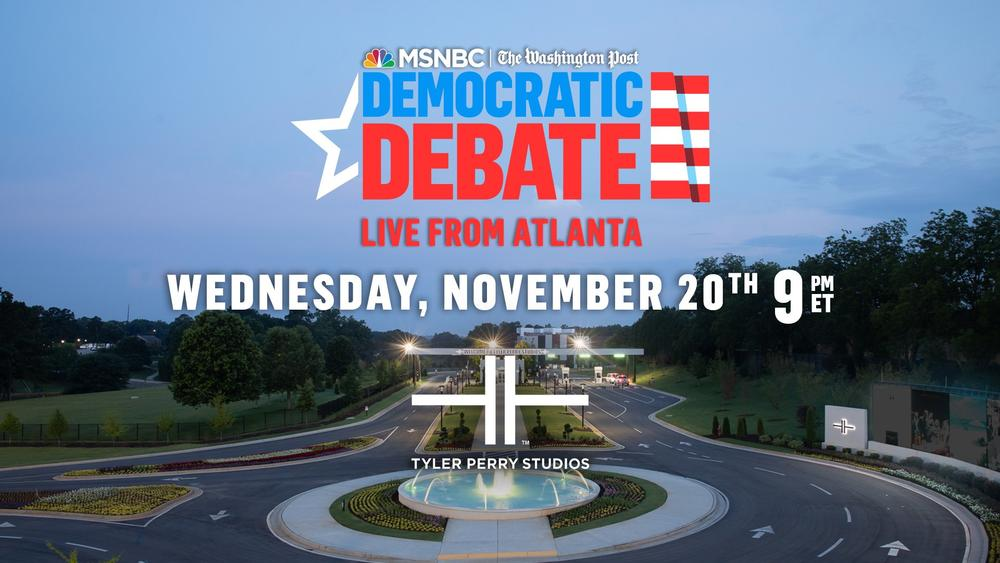 Tyler Perry Studios will host the debate stage for the November Democratic Presidential Debate.
