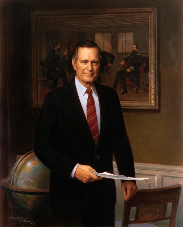Official White House Portrait of George H.W. Bush the 41st President of the United States.