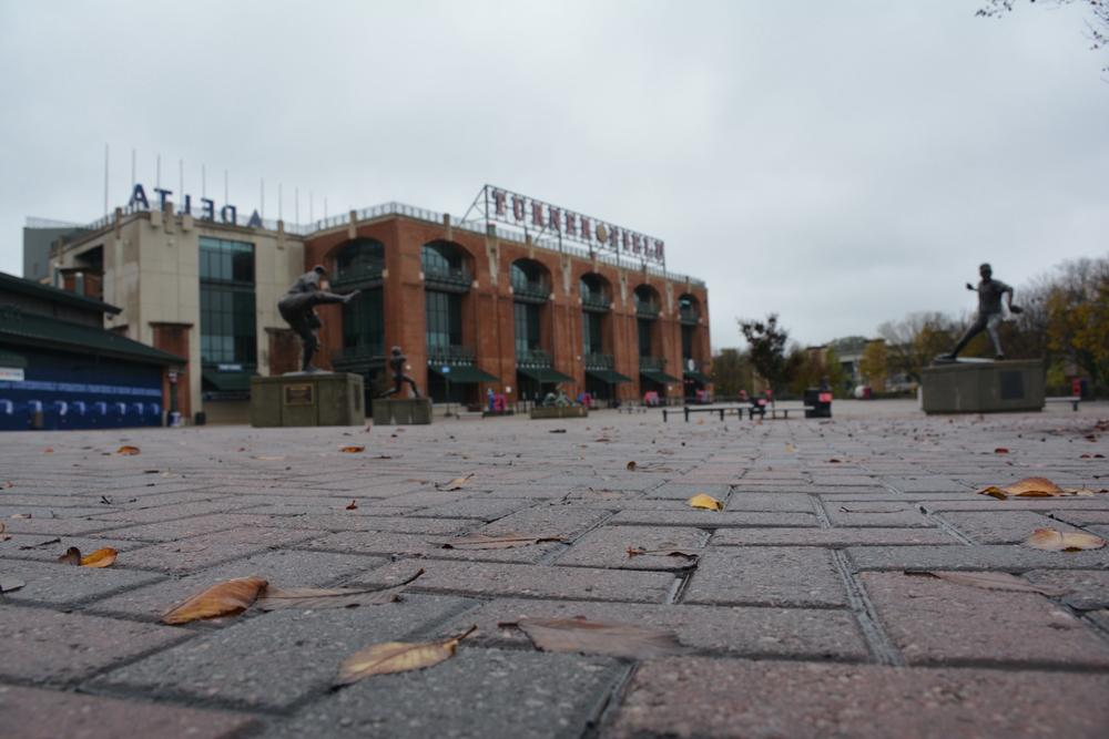 The front plaza of Turner Field. Nobody knows what will happen with the stadium once the Atlanta Braves leave in 2016.
