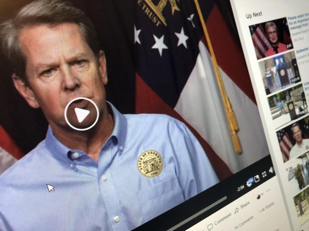 On Thursday, Gov. Brian Kemp appeared in a video to announce his plan for coronavirus-related restrictions moving forward.