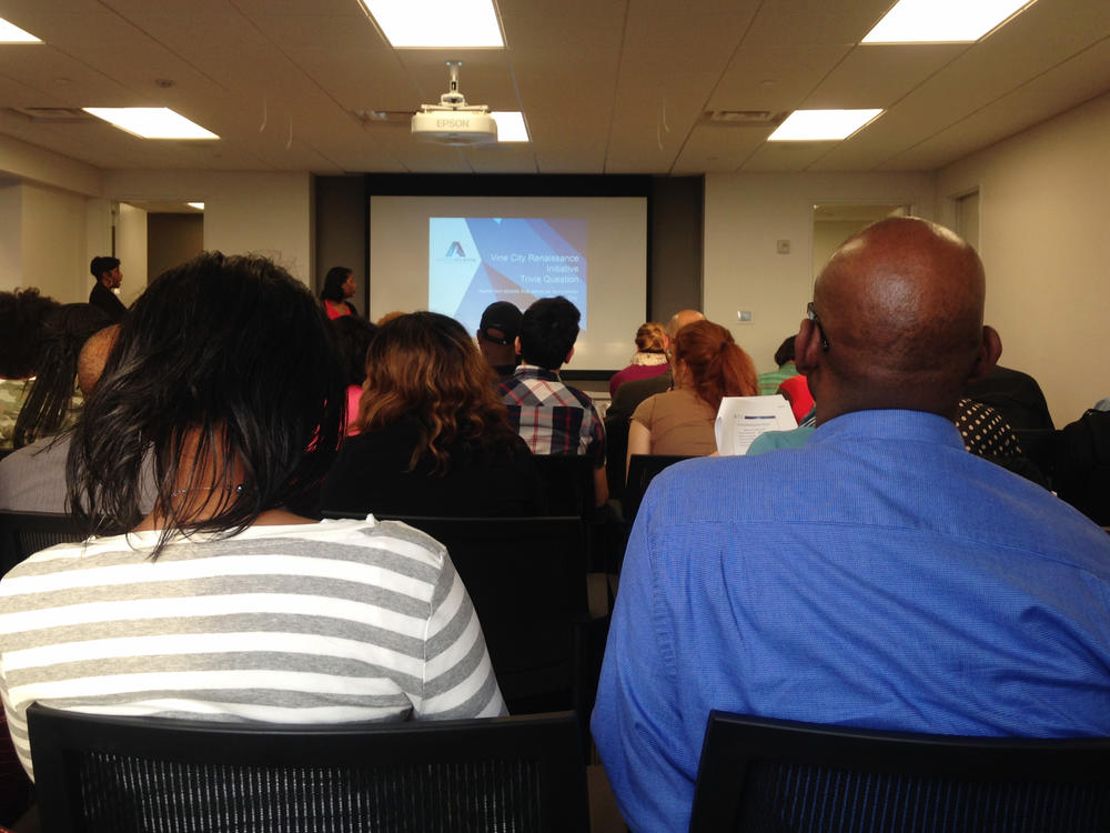 Prospective home buyers learn about the Vine City Renaissance Initiative and Invest Atlanta's other homebuyer incentive programs.