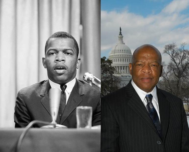 John Lewis in 1964 (l) and in 2006 (r)