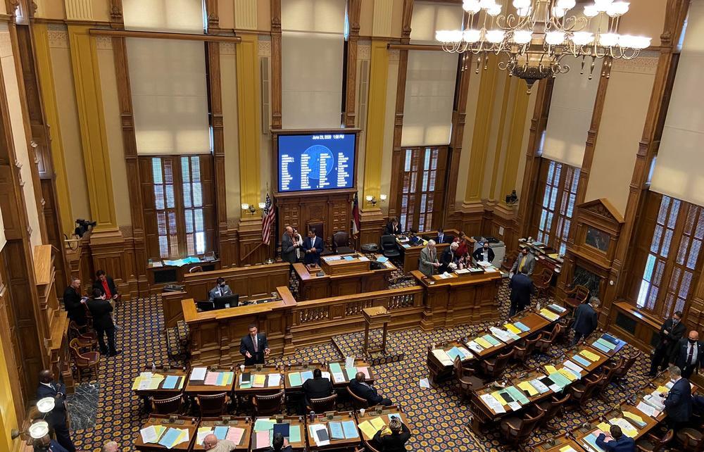 The Georgia Senate debates hate crime bill, HB 426, in the state Capitol earlier this week.