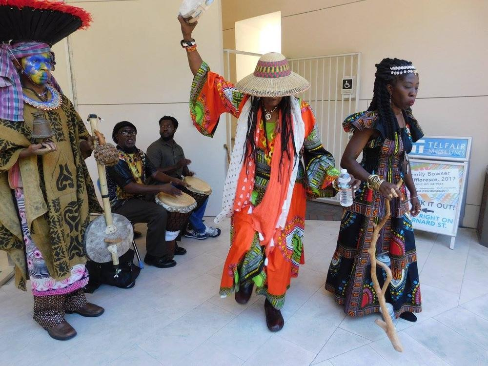 Juneteenth is typically a day of celebrations and learning, with events like this Libations ceremony at the Telfair Museums' Jepson Center. But Telfair and other organizations are taking the festivities online this year.