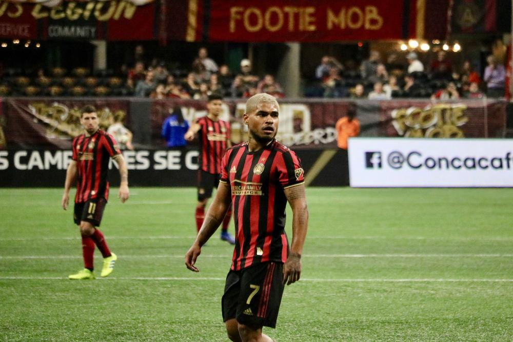 Atlanta United striker Josef Martinez will miss at least one game with a knee and ankle injury.