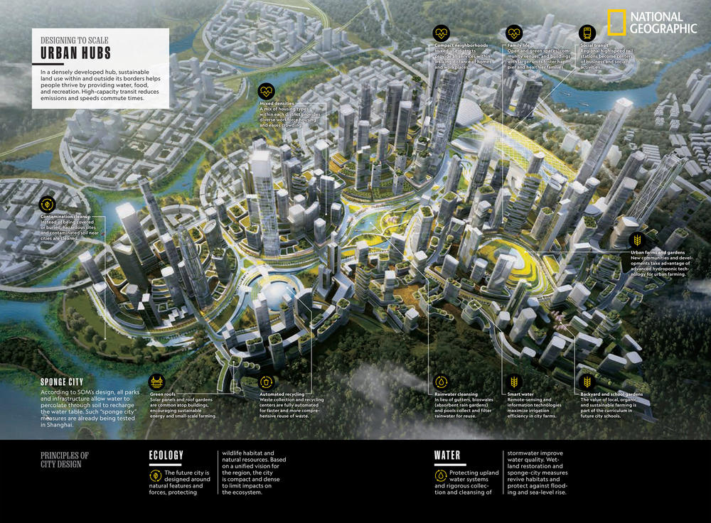 In its special April issue on cities, National Geographic maps out the future of urban life.