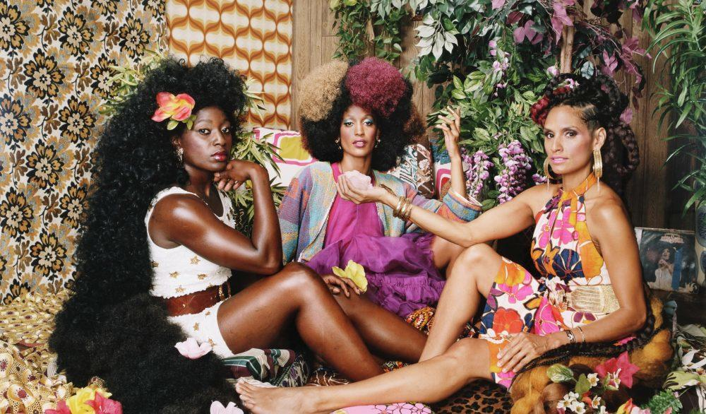 "The High Museum of Art hosts the ""Art + Feminism Wikipedia Edit-A-Thon"" event in March. This picture depicts Mickalene Thomas' 2018 work, ""Les Trois Femmes Deux."""