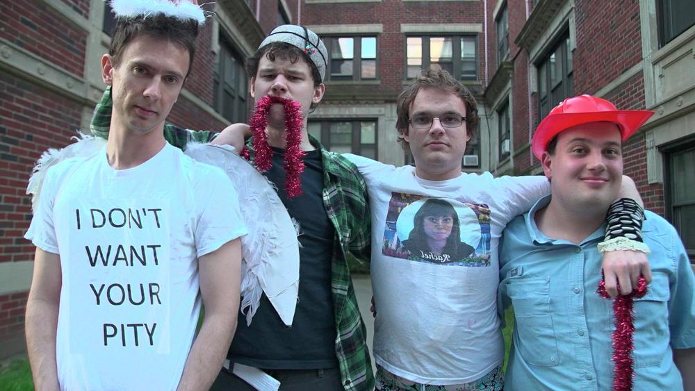 The members of Asperger's Are Us include Ethan Finlan, New Michael Ingemi, Jack Hanke and Noah Britton.