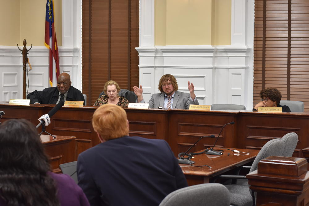 Members of the Athens-Clarke County Board of Elections speak at a meeting Tuesday, Feb. 4, 2020.
