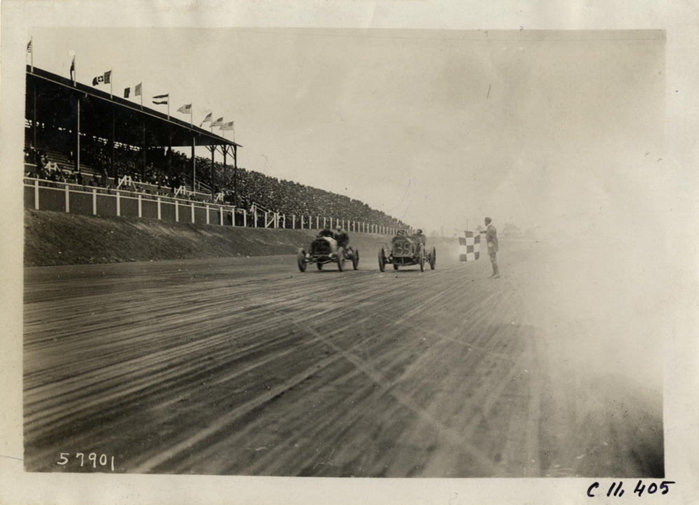 Candler opened the speedway in 1909.