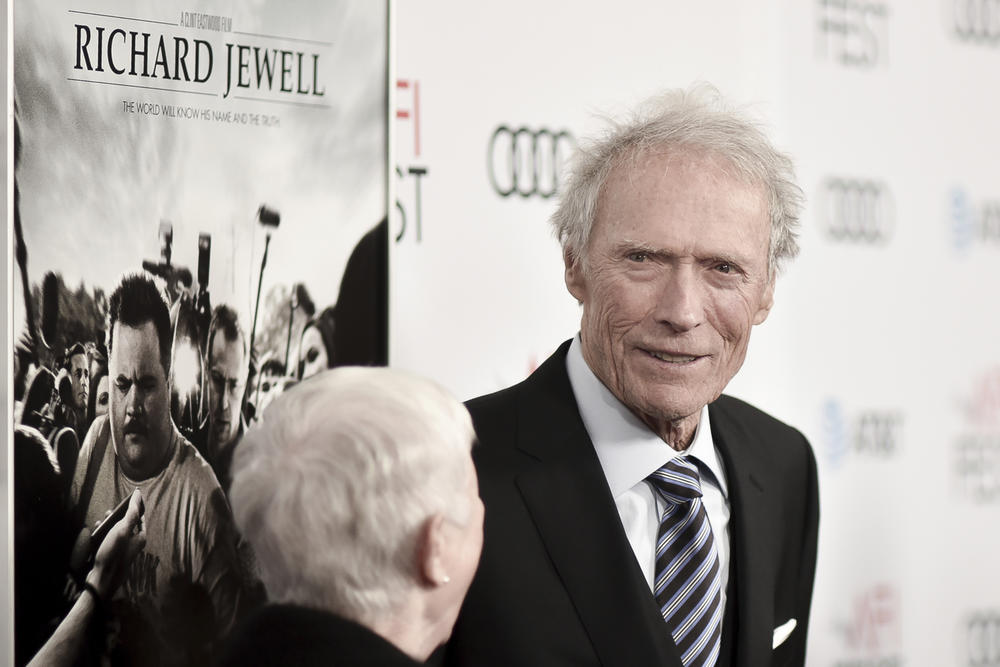 """Clint Eastwood at the 2019 AFI Fest in Los Angeles.  For his film """"Richard Jewell,"""" Eastwood takes aim at the media and federal investigators for a rush to judgment after the 1996 Atlanta Olympics bombing."""