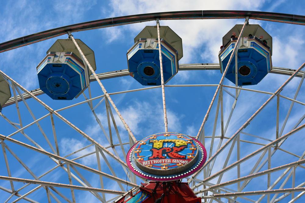A view of a Ferris wheel at the Georgia National Fair in Perry.
