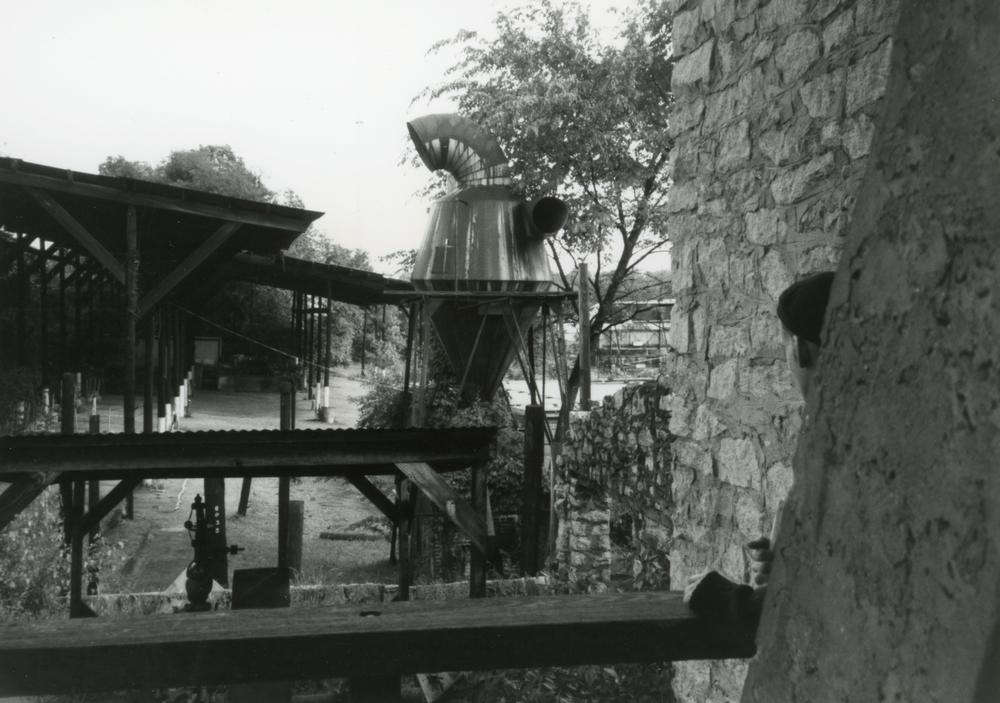 A photo of the DuPre Excelsior Mill in 1989, taken by Fugazi while on tour.