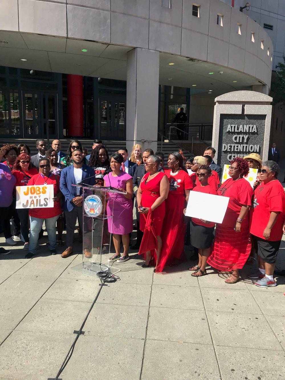 Atlanta Mayor Keisha Lance Bottoms signs legislation forming a task force to close and repurpose the city jail.
