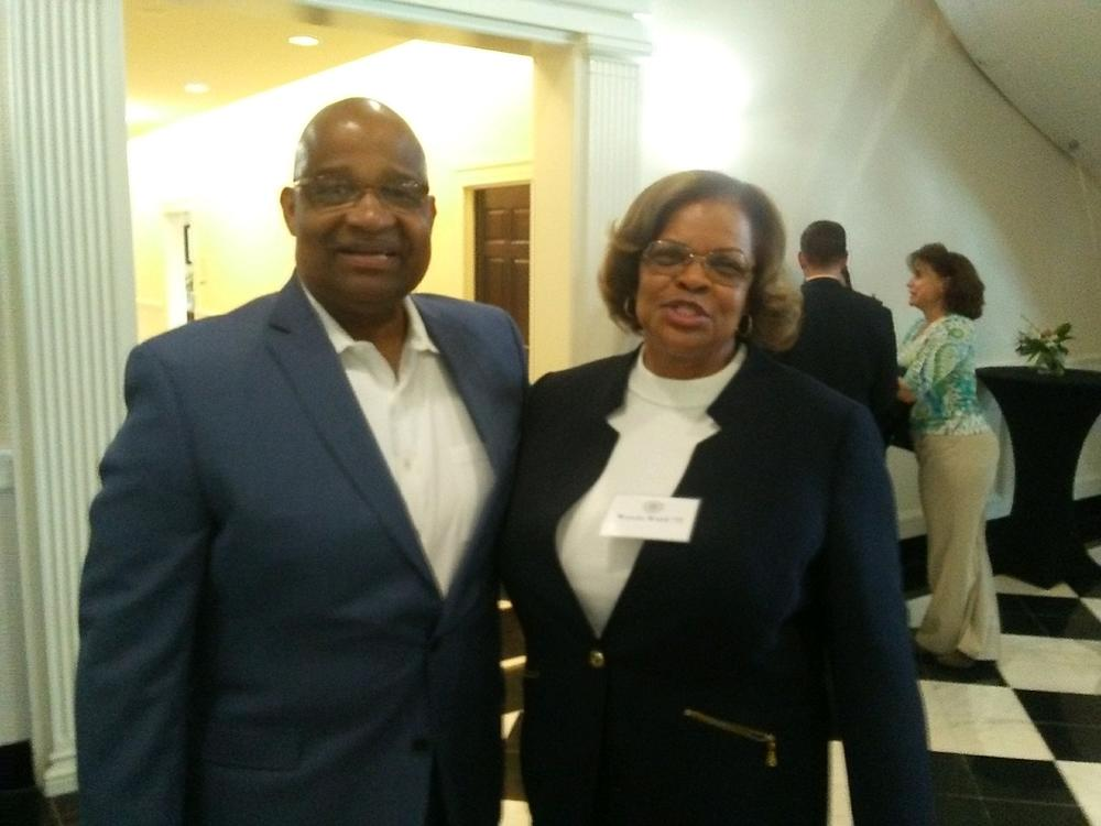 Jannard Wade and Wanda Ward attend 2019 Westminster event. They were among the first African-Americans admitted to Westminster Schools.
