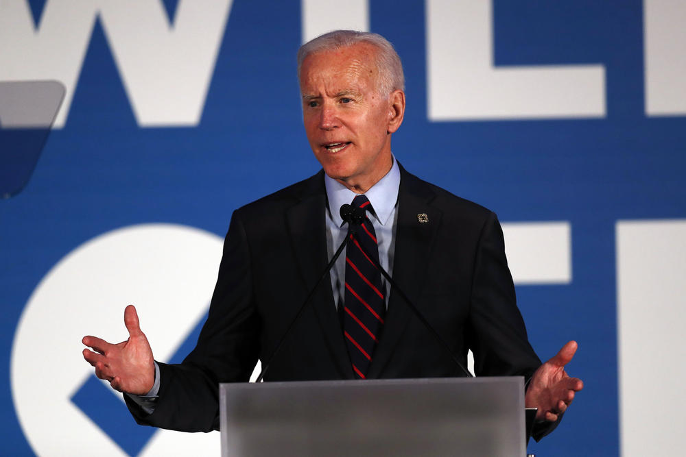 Democratic presidential candidate former Vice President Joe Biden speaks during the I Will Vote Fundraising Gala Thursday, June 6, 2019, in Atlanta.