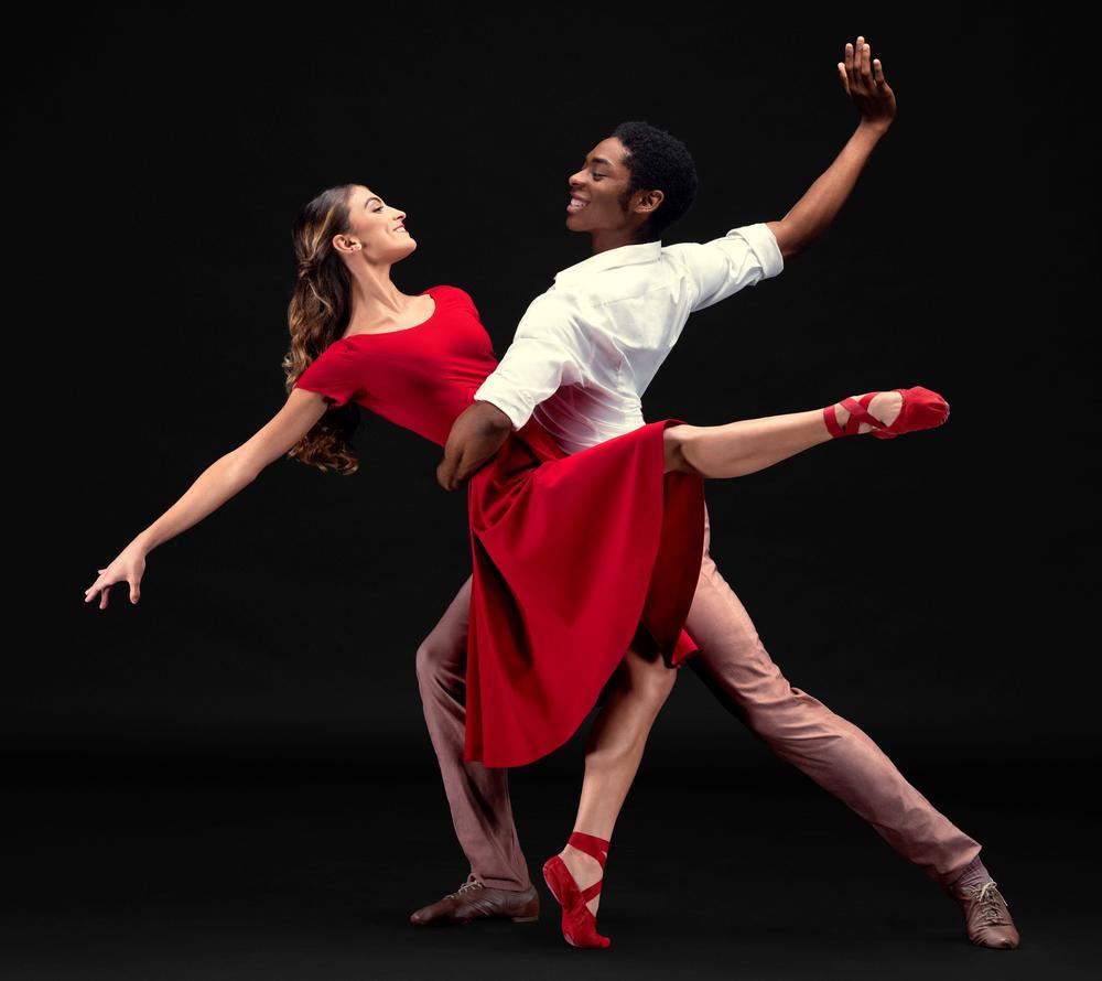 "Juliana Missano and Jonathan Philbert, in ""Heart/Beat: Gospel, Brubeck and Rhythms of the City."""