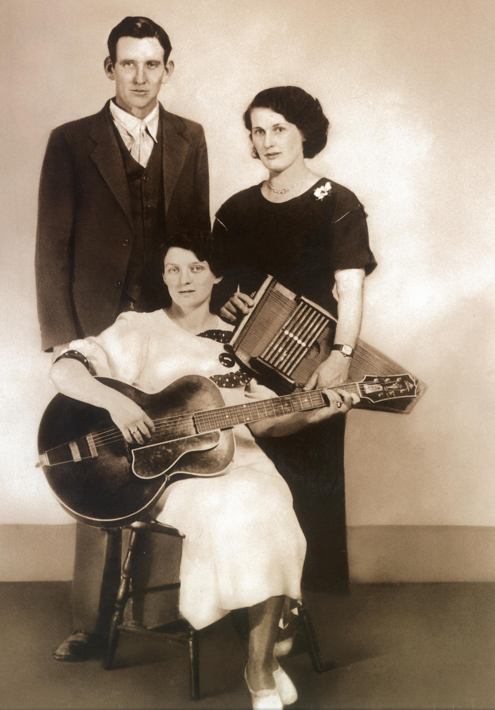 The Original Carter Family, from left: AP, Maybelle and Sara Carter c. 1930