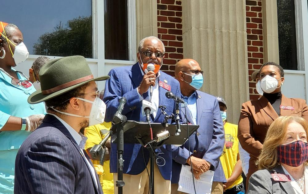 State Rep. Al Williams, D-Midway, and other state lawmakers met at the Glynn County Courthouse in May to announce their plans to push for a hate crimes bill and other measures, including repealing citizens arrest.