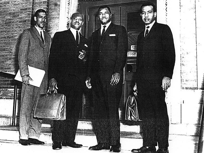 Donald Lee Hollowell (second from left) with Albany Movement leaders.