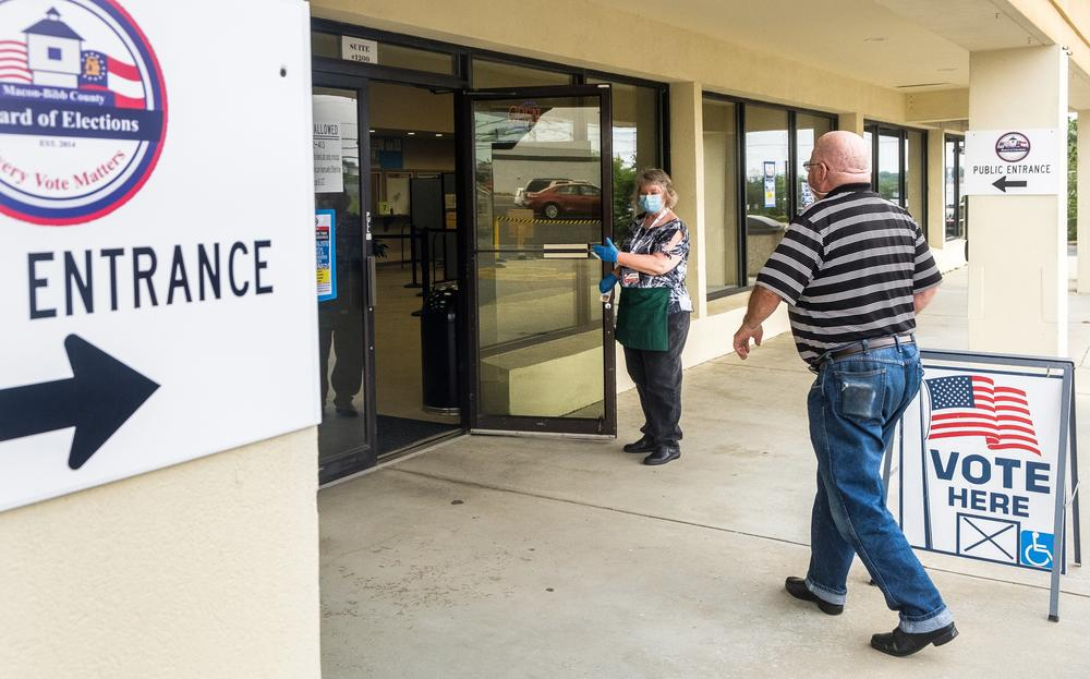 Macon voters head to the polls on the first day of early voting, June 9. Turnout appeared to be light.
