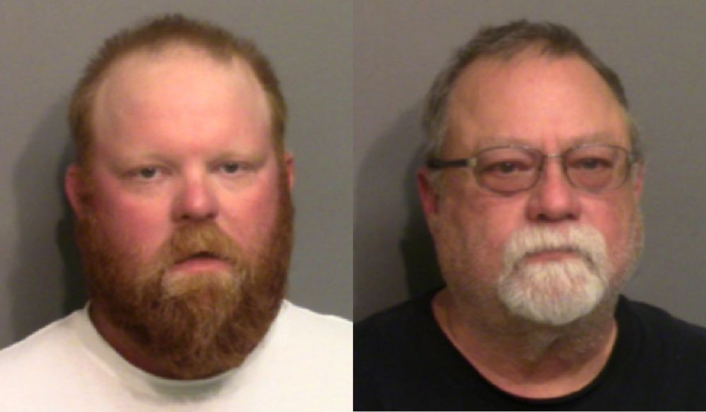 Travis (left) and Gregory McMichael have been arrested on murder and aggravated assault charges for the death of Ahmaud Arbery.