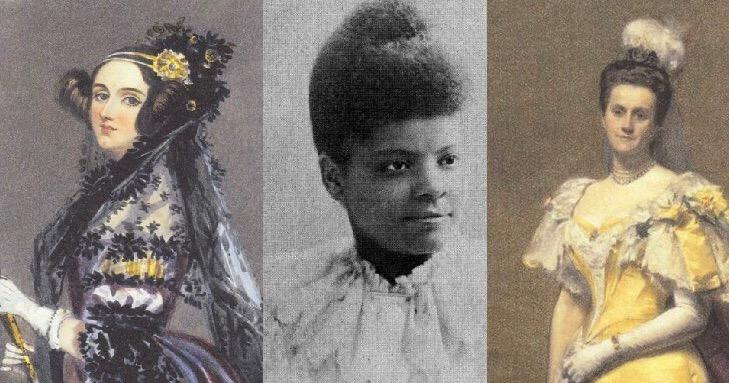 From left to right: Ada Lovelace, Ida B. Wells (Project Gutenberg), and Emily Warren Roebling.