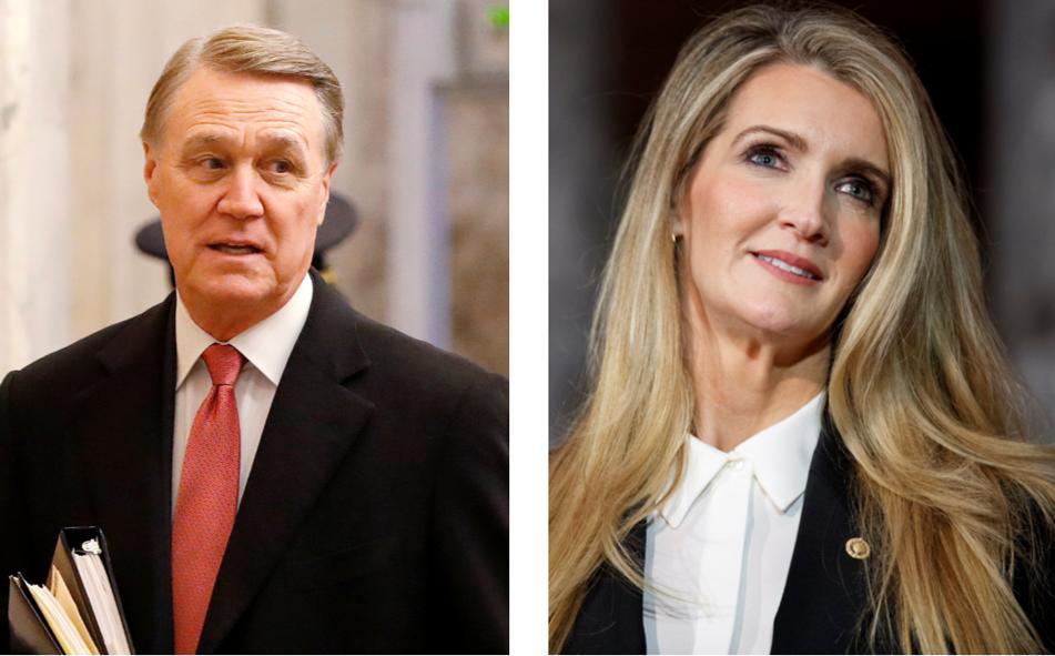U.S. Sens. David Perdue and Kelly Loeffler, both Republicans from Georgia.