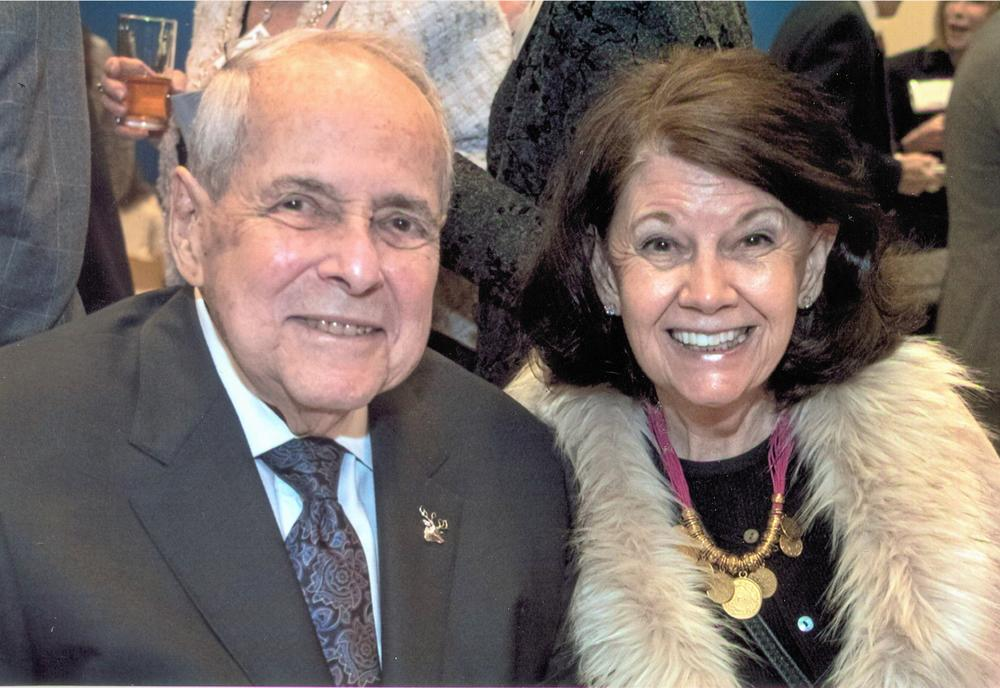 Former Atlanta mayor Sam Massell with his wife Sandra appear at an Atlanta event before the coronavirus pandemic.