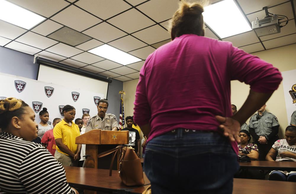 Parents reel off a litany of reasons why they want their kids to spend a day in the county jail before turning them over to jail guards.
