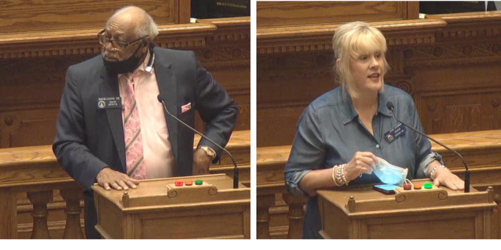 Sen. David Lucas and Sen. Renee Unterman spoke passionately about changes to the hate crimes bill.