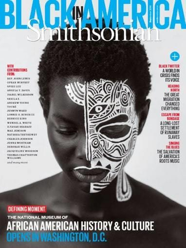 One of the covers of Smithsonian Magazine's 'Black In America' issue.