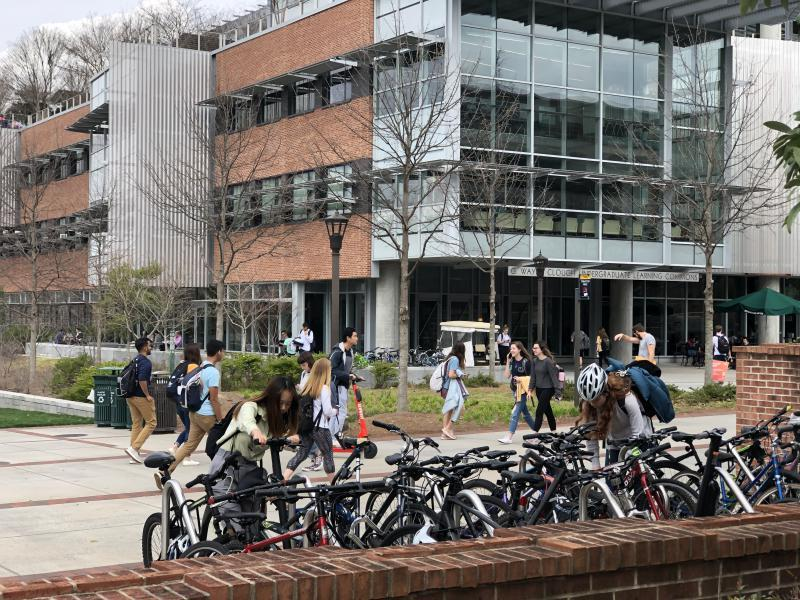 Students on Georgia Tech's campus will take classes remotely following spring break.