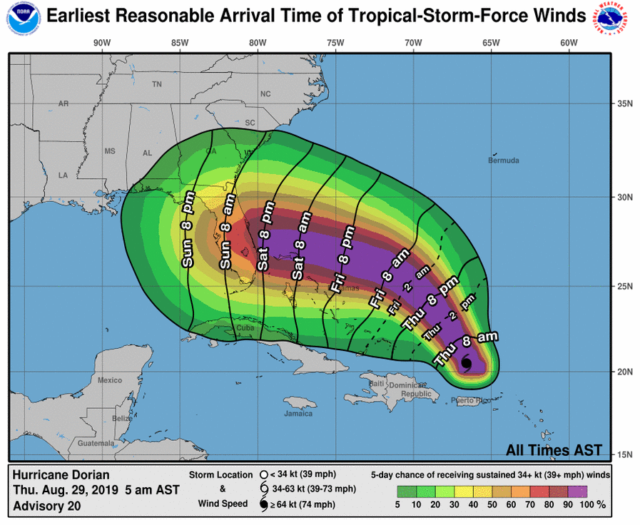 Tropical Storm Dorian is expected to intensify in the coming days, though forecasters say it's too early to say exactly where it will go.